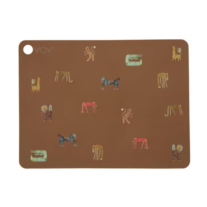 Le set de table Moira de OYOY , chameau foncé / marron