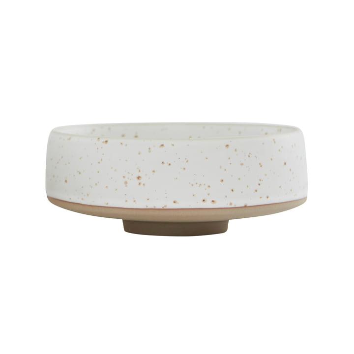 Le bol Hagi de OYOY , Ø 17 x H 7 cm, blanc / marron clair