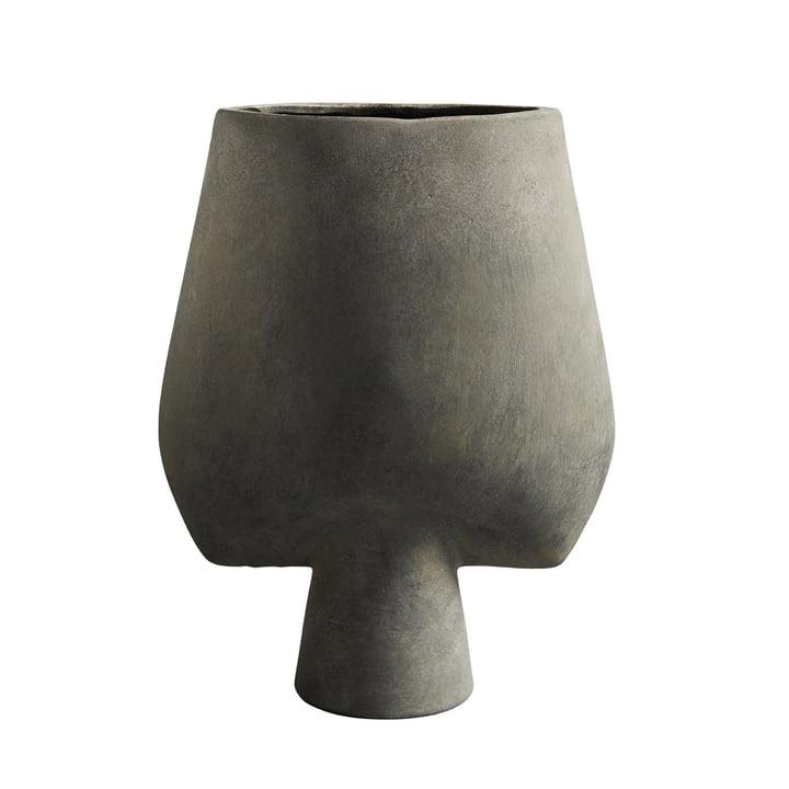 Le vase Sphere Square Large de 101 Copenhagen, gris foncé