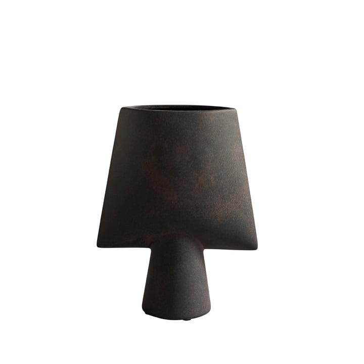 Le vase Sphere Square Mini de 101 Copenhagen, café / brun foncé