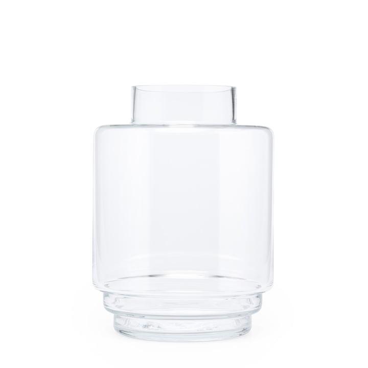 Monday Vase H 23 cm, transparent de Puik
