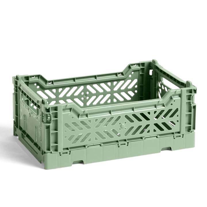 Le Colour Panier de caisse S de Hay , 26,5 x 17 cm, vert poussiéreux