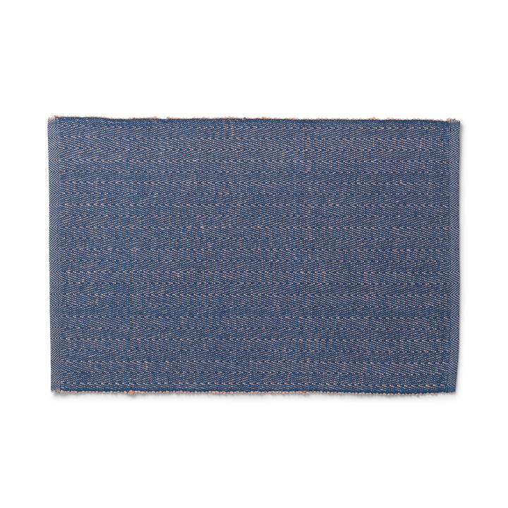 Le set de table Herringbone de Lyngby Porcelæn , 43 x 30 cm, bleu