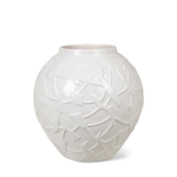 Le vase Relief de Kähler Design , H 20 cm, blanc