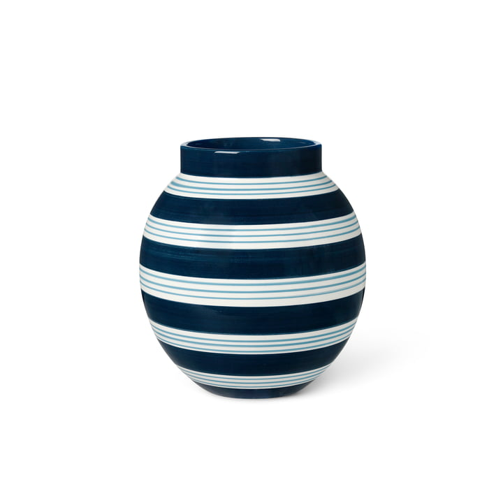 Le site Omaggio Vase de Kähler Design , H 20,5 cm, bleu foncé