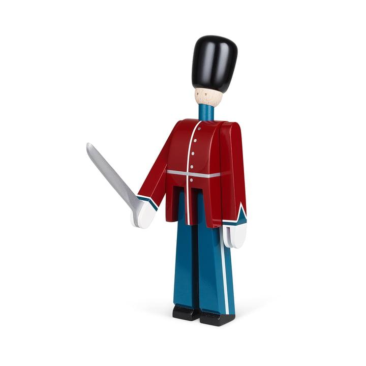 Le personnage en bois de la garde royale de Kay Bojesen , rouge / bleu / blanc
