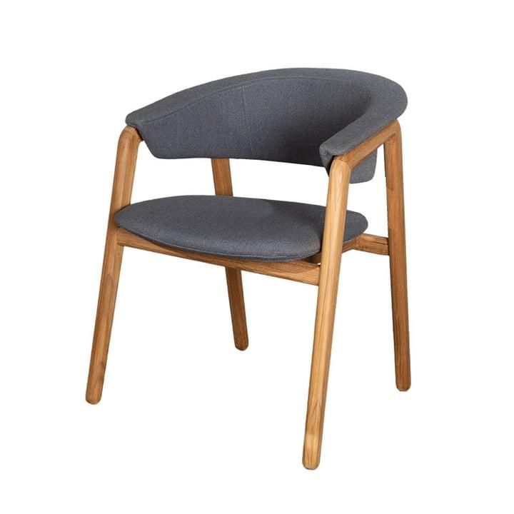 Le fauteuil Luna Outdoor de Cane-line , gris