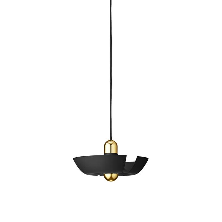 La lampe à suspension Cycnus de AYTM , Ø 30 cm, noir / or