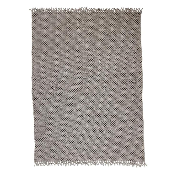 Le tapis Clover de Cane-line , 240 x 170 cm, sable
