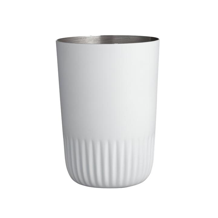 Le mug brosse à dents Plissé de Södahl , blanc