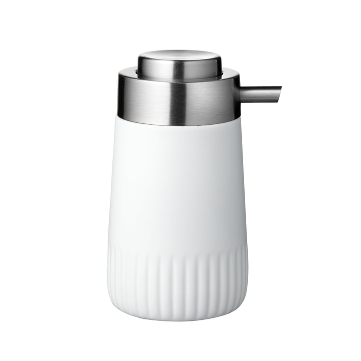 Le distributeur de savon Plissé de Södahl , blanc