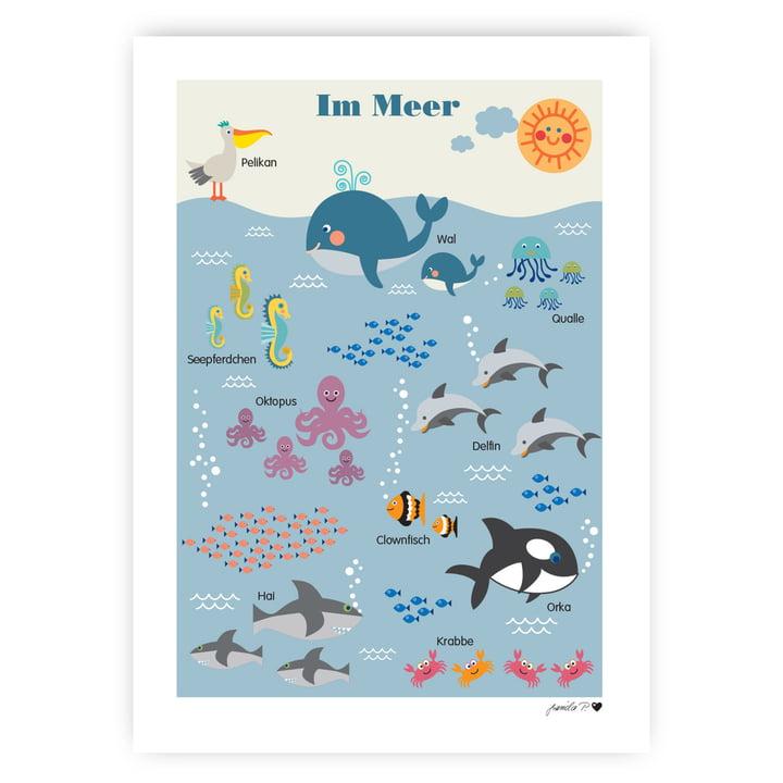 Le poster des animaux marins de byGraziela , 50 x 70 cm