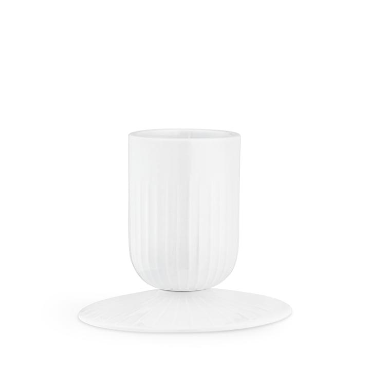 Hammershøi Block bougeoir Ø 5 cm de Kähler Design en blanc