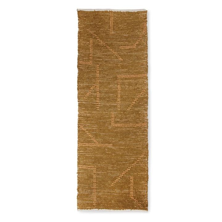 Le tapis en coton tissé à la main de HKliving , 70 x 200 cm, moutarde / miel