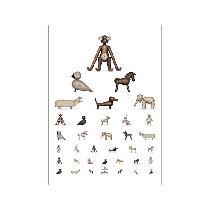 Affiche du test de la vue, 30 x 40 cm, brun / blanc de Kay Bojesen