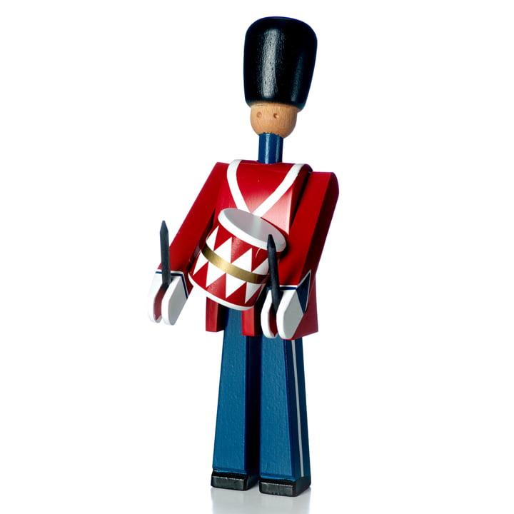 Figure de tambour en bois, rouge / bleu / blanc de Kay Bojesen