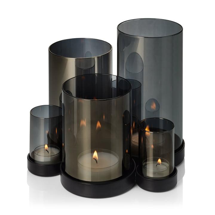 La lampe à vent Lichtermeer de Philippi, noir / transparent