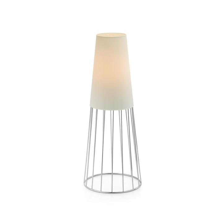 Lighthouse Lampe de jardin M de Philippi en blanc / argenté
