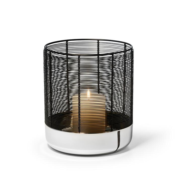 Luna Lampe à vent en taille L de Philippi en argent / noir