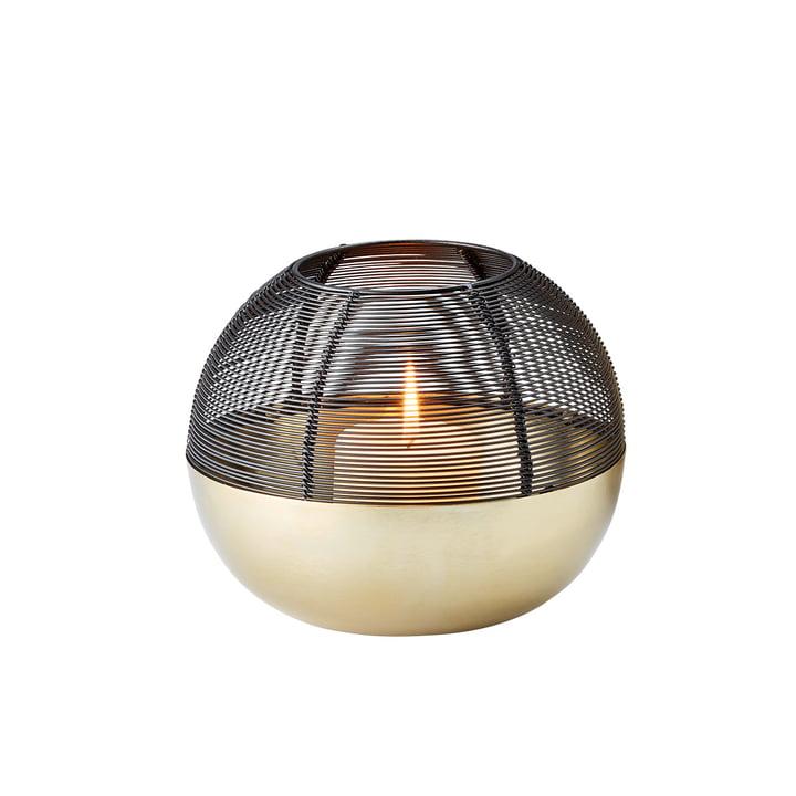 La lampe à vent Granada Wind light S de Philippi, or mat / noir