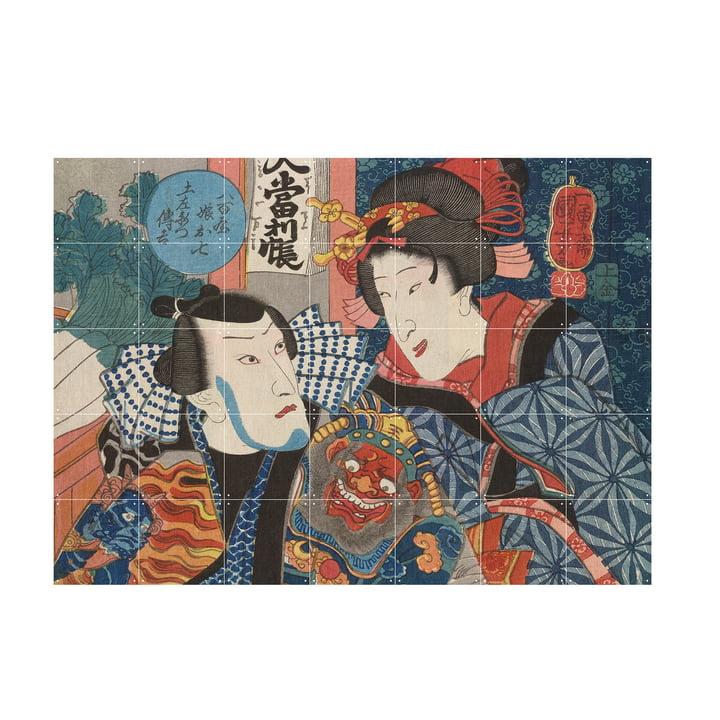 Bando Shuka d'Utagawa Kuniyoshi en tant que murale à partir de IXXI dans la taille 140 x 100 cm