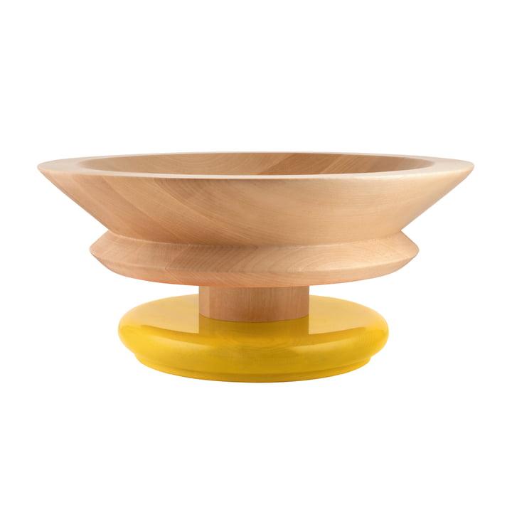 Bol Twergi Ø 30 cm de Alessi en bois de tilleul naturel / jaune