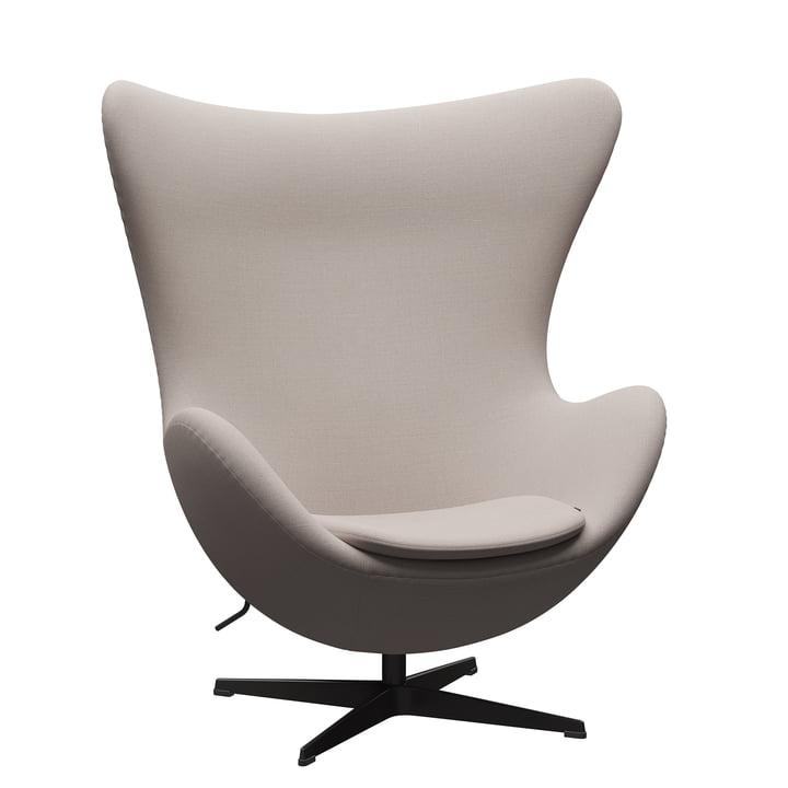 The Egg Chair de Fritz Hansen , graphite chaud / Christianshavn 1120 beige clair