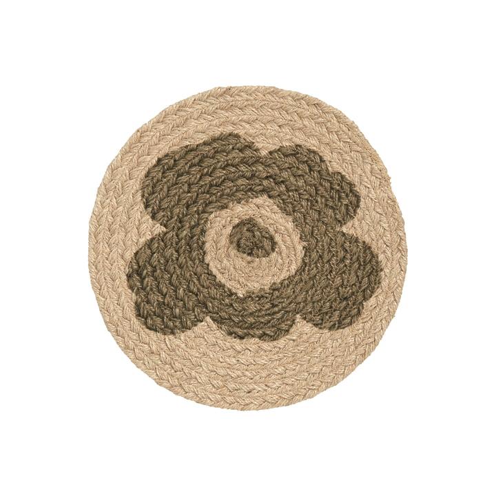 Le dessous de plat Unikko de Marimekko, toile de jute