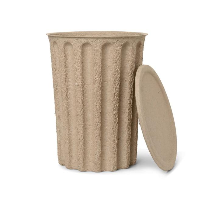 Paper Pulp Seau à papier de ferm Living en gris-brun