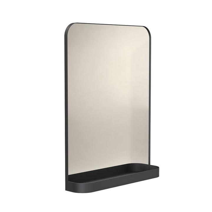 Le miroir Signatures TB600 avec étagère de Frost , noir