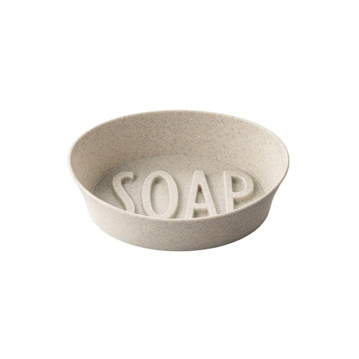 Soap Porte-savon (Recyclé) de Koziol dans la couleur desert sand