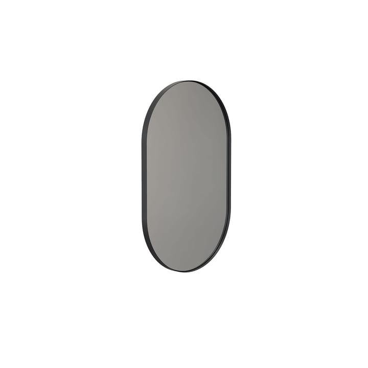 Miroir mural Unu 4138 de Frost , avec cadre ovale, 50 x 80 cm, noir