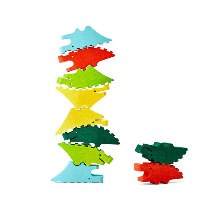 Croc Pile Mini crocodiles en bois de Areaware , colorés (lot de 10)