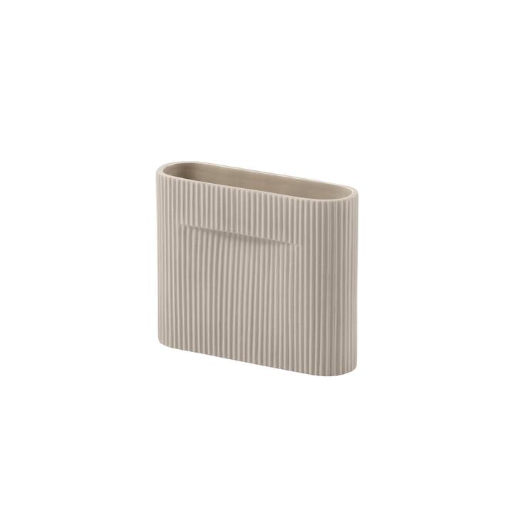 Ridge Vase H 16,5 cm de Muuto en beige