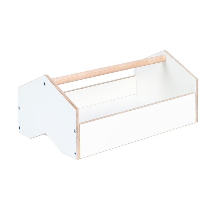 kiste Boîte de rangement de Tojo en blanc / hêtre