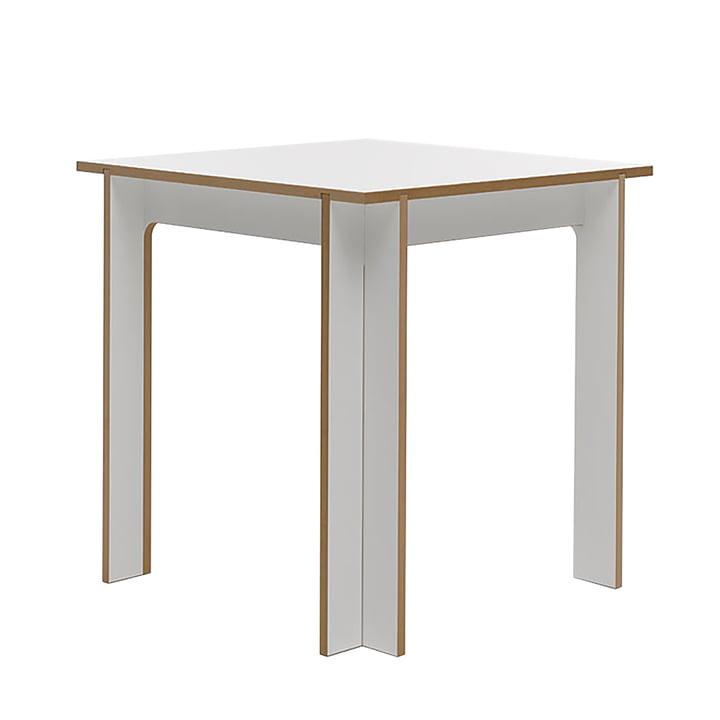 Table 75 x 75 cm de Tojo en blanc
