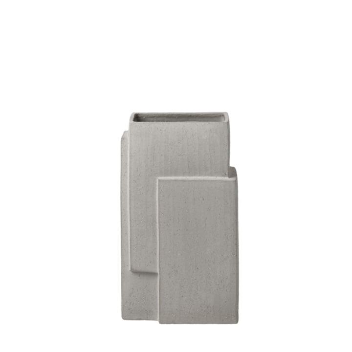 Monolith Vase H 35 cm de Kristina Dam Studio en gris