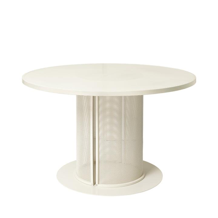 Bauhaus Table de salle à manger Outdoor Ø 120 cm de Kristina Dam Studio en beige