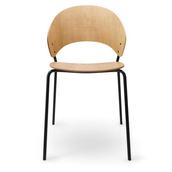 La chaise Dosina de Eva Solo , chêne clair / noir