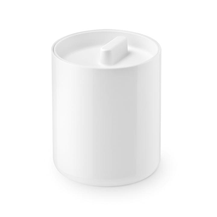 La boîte à couvercle Lunar de Depot4Design , Ø 10 cm, blanc / blanc