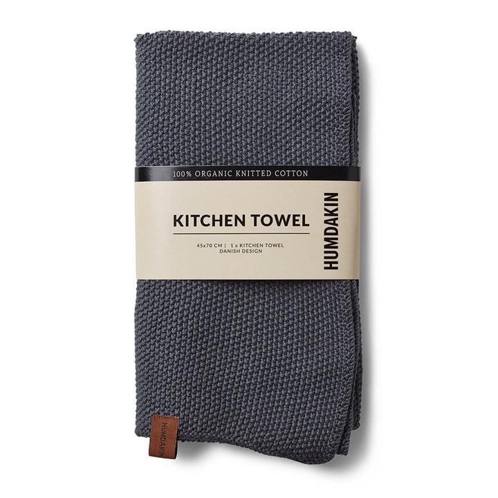 Le torchon de cuisine tricoté Humdakin, 45 x 70 cm, dark ash