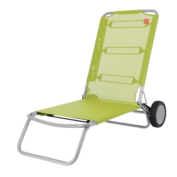 Fiam - Wheely Chaise de plage, pistache