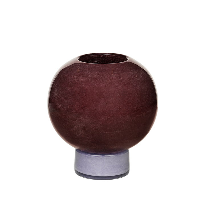 Le vase Mari de Broste Copenhagen , H 21 cm, puce aubergine / orchid hush