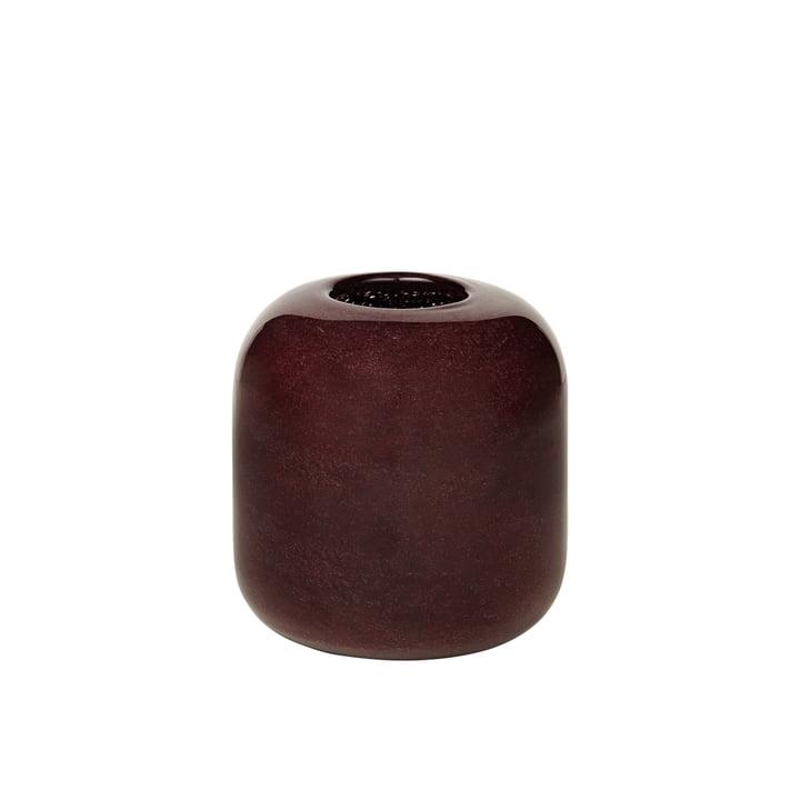 Le vase Kai de Broste Copenhagen , H 13,5 cm, puce aubergine