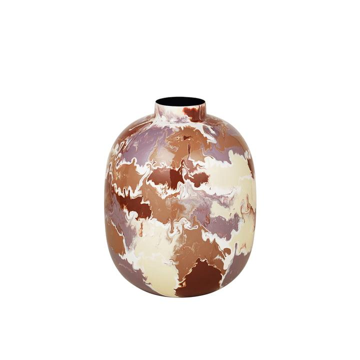 Le vase Thyra de Broste Copenhagen , Ø 25 x H 31 cm, mélange de couleurs claires.