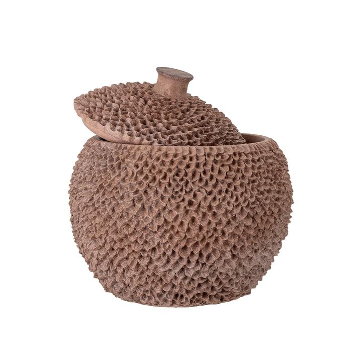 La boîte de rangement Cassia avec couvercle de Bloomingville , H 25 cm, brun