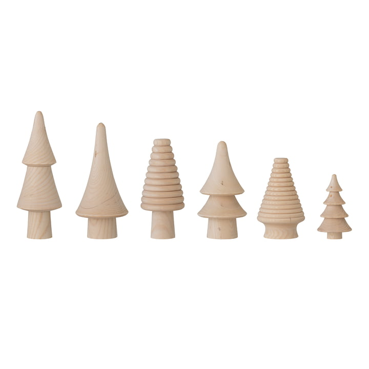 Rias Arbre de Noël décoratif (lot de 6) de Bloomingville dans la nature