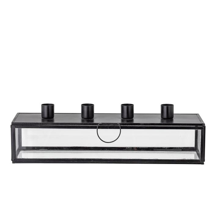 Pelo Porte-bougies de l'Avent L 34 cm de Bloomingville en noir