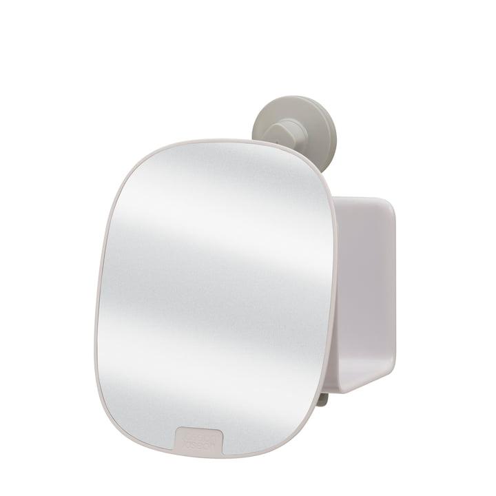 EasyStore Tablette de douche avec miroir réglable compact de Joseph Joseph en blanc