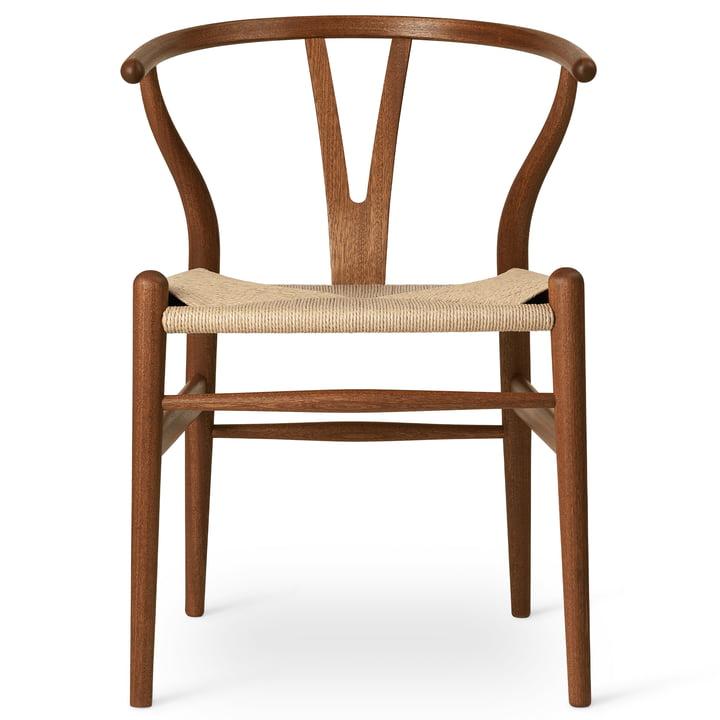 CH24 Wishbone Chair de Carl Hansen en acajou huilé / vannerie naturelle
